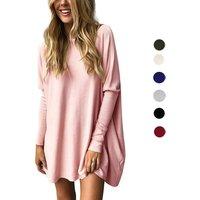 Fashion Plus Size Clothing Long Sleeve Crew Neck Designs Women Casual Blouse Designs