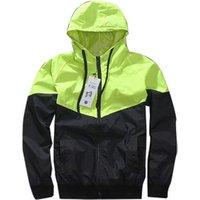 80 90s Men Outdoor Patchwork Coat Hip Hop Waterproof Jacket Reflective Jacket Sport Windbreaker