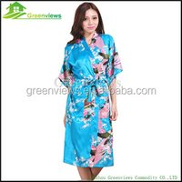 New faux silk kimono satin bathrobe for women night wear for women ladies robe