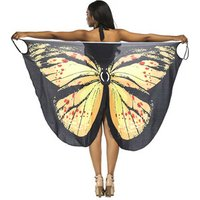 Womens spaghetti strap butterfly print cover up backless beach dress/bikini wrap swimwear