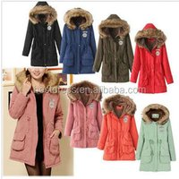 Womens Thicken Fleece Faux Fur Warm Winter Coat Hood Parka Overcoat Long Jacket S-3XL