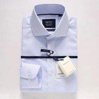 Top Fashion  High Quality Custom Slim Fit Mens Long Sleeve Suit Shirt