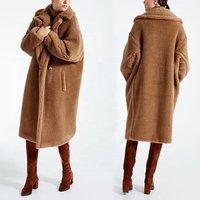 Ladies Winter Coats Clothing Women  Faux Fur Coats Sheep Fur Long Fur Coat