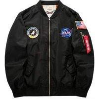 High Quality Mens Clothes MA1 Flight Mans Suede Bomber Jacket Slim Jacket For Men
