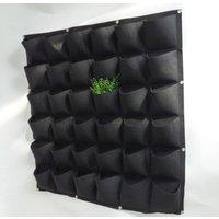 Pockets Felt Vertical Wall Garden Planter Hanging Growing Bag for Flower Vegetable
