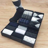 Custom Logo Packing Cotton Business Sock Men Daily Dress Socks Box Design