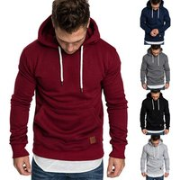 Ecowalson Mens Winter Drawstring Hoodies Hooded Sweatshirt Outwear Sweater Warm Coat Jacket with Pockets