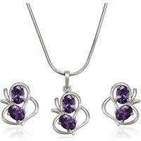 61894 Xuping wedding jewelry sets bridal rhodium gold jewelry set imitation jewellery, rhodium jewelry