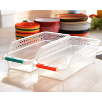Refrigerator Durable Storage Organizer Fruit Handled Kitchen Collecting Box Basket Rack Stand Basket Container