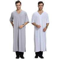 flax elastic simple baptism gowns for adults