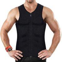 6300 Men Waist Trainer Vest for Weightloss Hot Neoprene Corset Body Shaper Zipper Sauna Tank Top Workout Shirt
