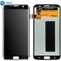 Wholesale original mobile phone gold replacement display lcd touch screen digitizer assembly for samsung galaxy s7 edge