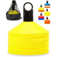 Wholesale  Disc Cones (Set of 50) Agility Soccer Cones with Carry Bag and Holder for Training, Football, Kids, Sports