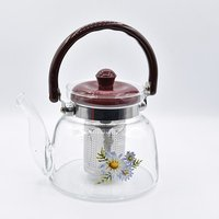 glass tea kettle one cup glass tea pot/teapot Infuser with tea strainer