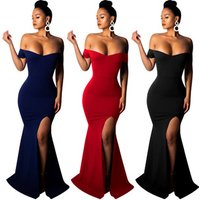 2019 most popular elegant Dresses Women Party Sexy Plus Size Vestidos De Fiesta Evening Dress for Women FM-8330