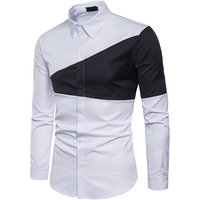 custom new casual spliching printed mens dress shirts