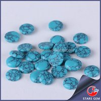 Wholesale turquoise price 3mm round cabochon synthetic turquoise stone supplier