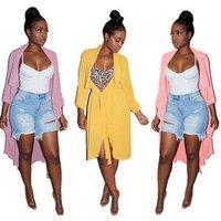 2019 new fashion ML5076 fashion summer solid chiffon women top blouse