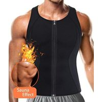 Tank shirt shirts compression vest body shaper vest mens waist trainer sauna suit hot corset activated body shaper