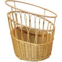 PP rattan display basket for fruit and bread in supermarket