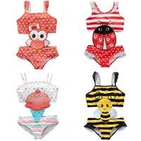 2019 fashion baby girl swimwear one piece kids spaghetti strap kids bath suit