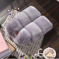 Wholesale Lovely Dress Sleeveless Waistcoat Baby Girl  Faux Fur Gilet Mink Fur Vest