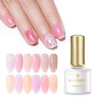 BORN PRETTY 6ml Semi-transparent Nail Gel Pink Jelly Nude Nail Art Soak Off UV Gel Polish