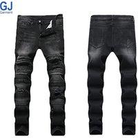 The Latest Nova Fashion Top Design Custom Blue Skinny Slim Fit Denim Homme Uomo Black Pent Mens Jeans Pants Trousers For Men