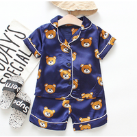 High Quality baby Kids pajamas childrens short-sleeved suit summer 2 pieces pajama set