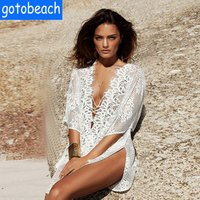 2019 Women Lace Bikini Cover Up Beach Dress