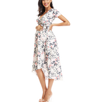 Wholesale Maternity clothing pregnant women Maternity Wear V neck  Loose irregular hem style  Sweater Dress