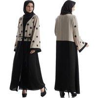 Wholesale Arab women Loose Cardigan islamic clothing muslim Maxi Dress jilbab khimar dubai abaya