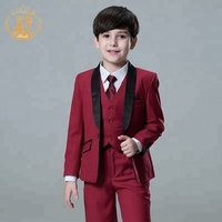 New fashion two botton Autumn Boy Formal Suit Children Blazers Clothes Kids Gentleman Suit