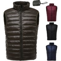 2019 High Quality Custom Winter Outwear Lightweight  feather waistcoat Goose Mens Feather sleeveless quilted Down Vest