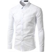 Wholesale Latest Design Custom Mens Suits Long Sleeve Formal Office White Dress Shirt