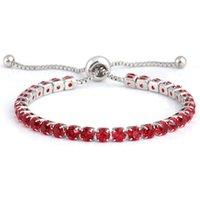 Diamond Bracelet Adjustable Push-pull Crystal Chains Bracelet Resizable Woman Jewelry Gold Bangle Bracelet For Girls
