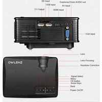 Owlenz SD60 Portable 1080P 800x480 Resolution WiFi LED Projector Better Than UNIC UC46