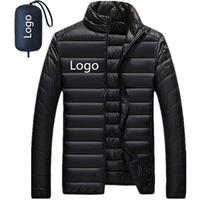 Wholesale 2019 Ultra Light Men Packable Goose Duck Winter Down Jacket Manufacture, Ultralight Man Goose Down Coat