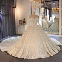 Amanda Novias Hot Sale Off The Shoulder Long Sleeves Full Lace Beading Wedding Gown Bridal Gown 2019