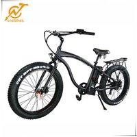 26inch 48v 500w fat tire electric chopper bicycle beach cruiser bike