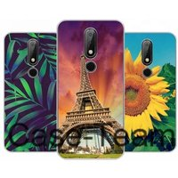 Mobile Phone Case for Nokia 3.1 plus Case,  Free Shopping, Cartoon Flower Cover for Nokia 3.1 plus case