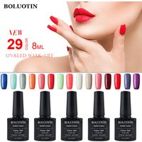 UV Gel Nail Art Paint 29 Colors 8ml Soak Off UV Gel Nail Polish Colors Paint Gel Lacquer Long Lasting Nail Paint Varnish