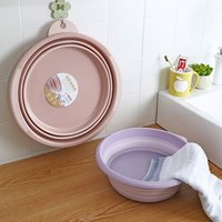 QM factory direct sale small size foldable plastic wash basin good quality folding plastic basin