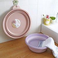 QM factory direct sale small size foldable plastic wash basin good quality folding plastic basin
