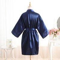 Stock Wedding Bridesmaid Robes Women Satin Silk Kimono Robe