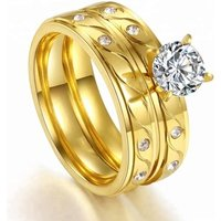 Gold Ring Set Fashion Jewellery Fine Jewelry Stainless Steel From China