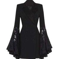 Fashion ladies dress blazers women long sleeve slim blazer business formal  blazers