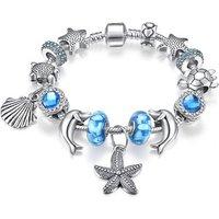 'Qings Smart Ocean Charm Bracelet 925 Silver Plated Fashion Bracelet For Pandora Style