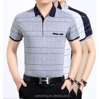 Middle aged mens cotton polo shirt fitness mens big size clothing 2017,gym apparel for men