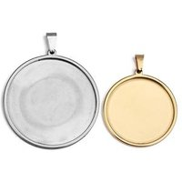 25mm 30mm stainless steel cabochon base sterling silver cabochon pendant blanks setting tray of jewelry accessories